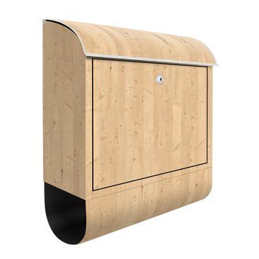 Produktfoto Briefkasten Holz - Apfelbirke - Holzoptik Wandbriefkasten Braun