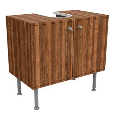 Produktfoto Waschbeckenunterschrank - Holz Amazakou – Holzoptik Badschrank Braun