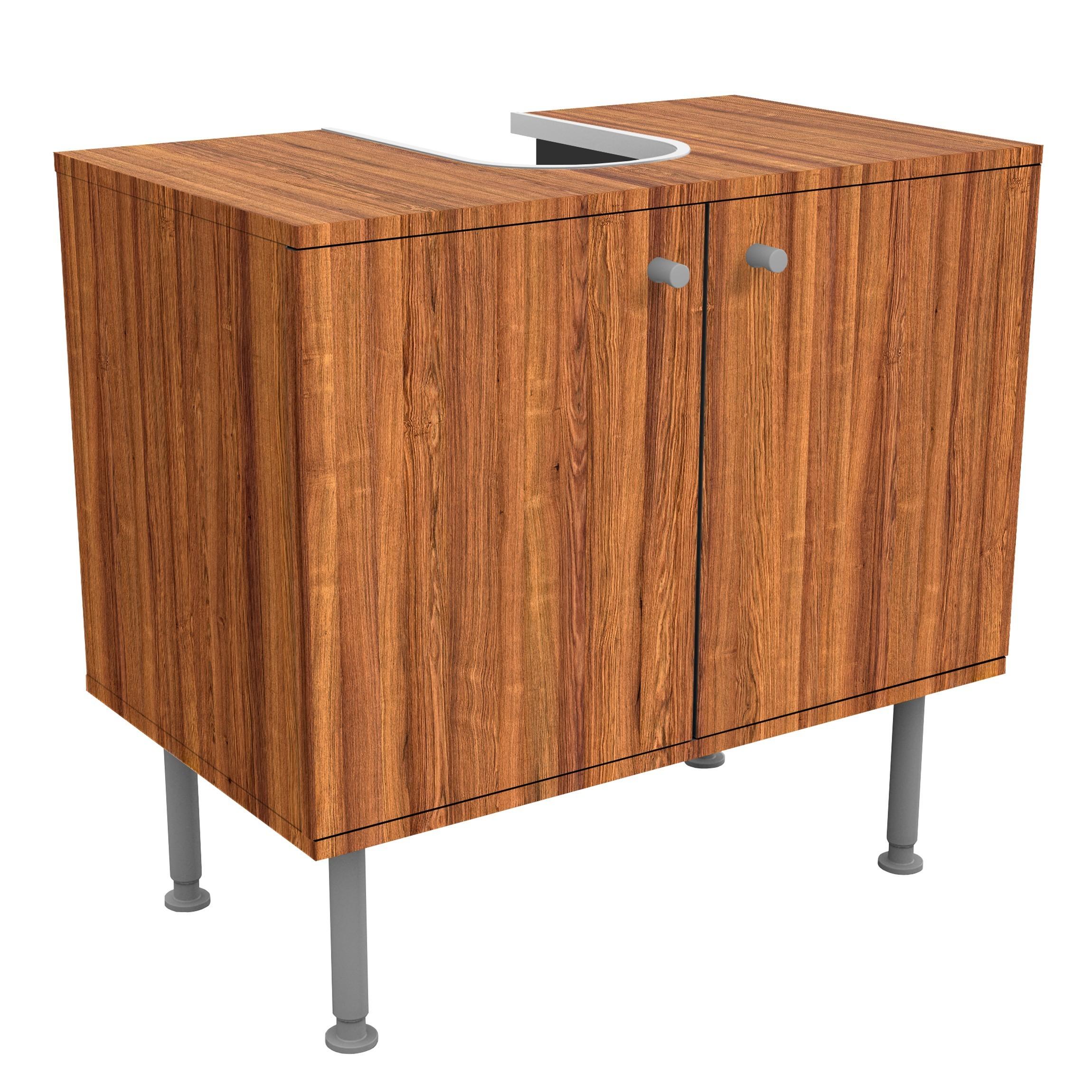 waschbeckenunterschrank holz freijo holzoptik badschrank braun. Black Bedroom Furniture Sets. Home Design Ideas