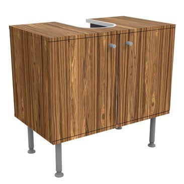 Produktfoto Waschbeckenunterschrank - Holz Macauba - Holzoptik Badschrank Braun