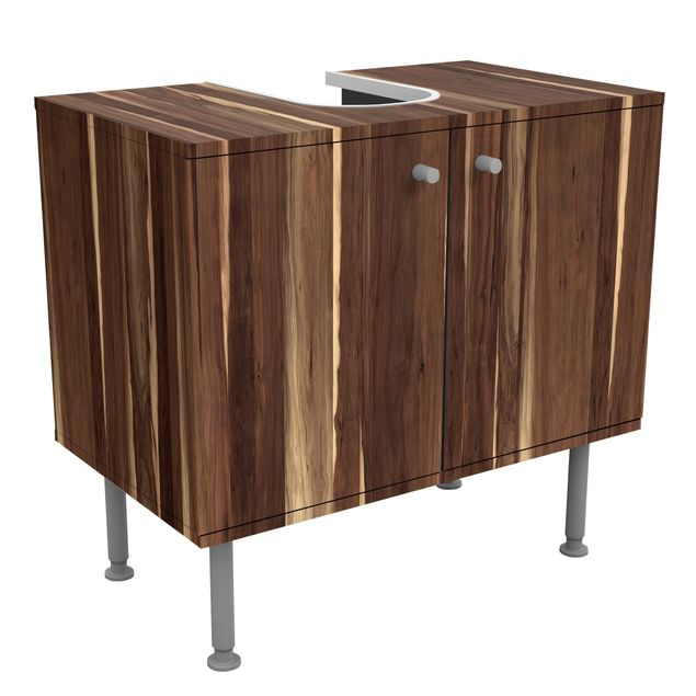 waschbeckenunterschrank holz manio holzoptik badschrank braun. Black Bedroom Furniture Sets. Home Design Ideas