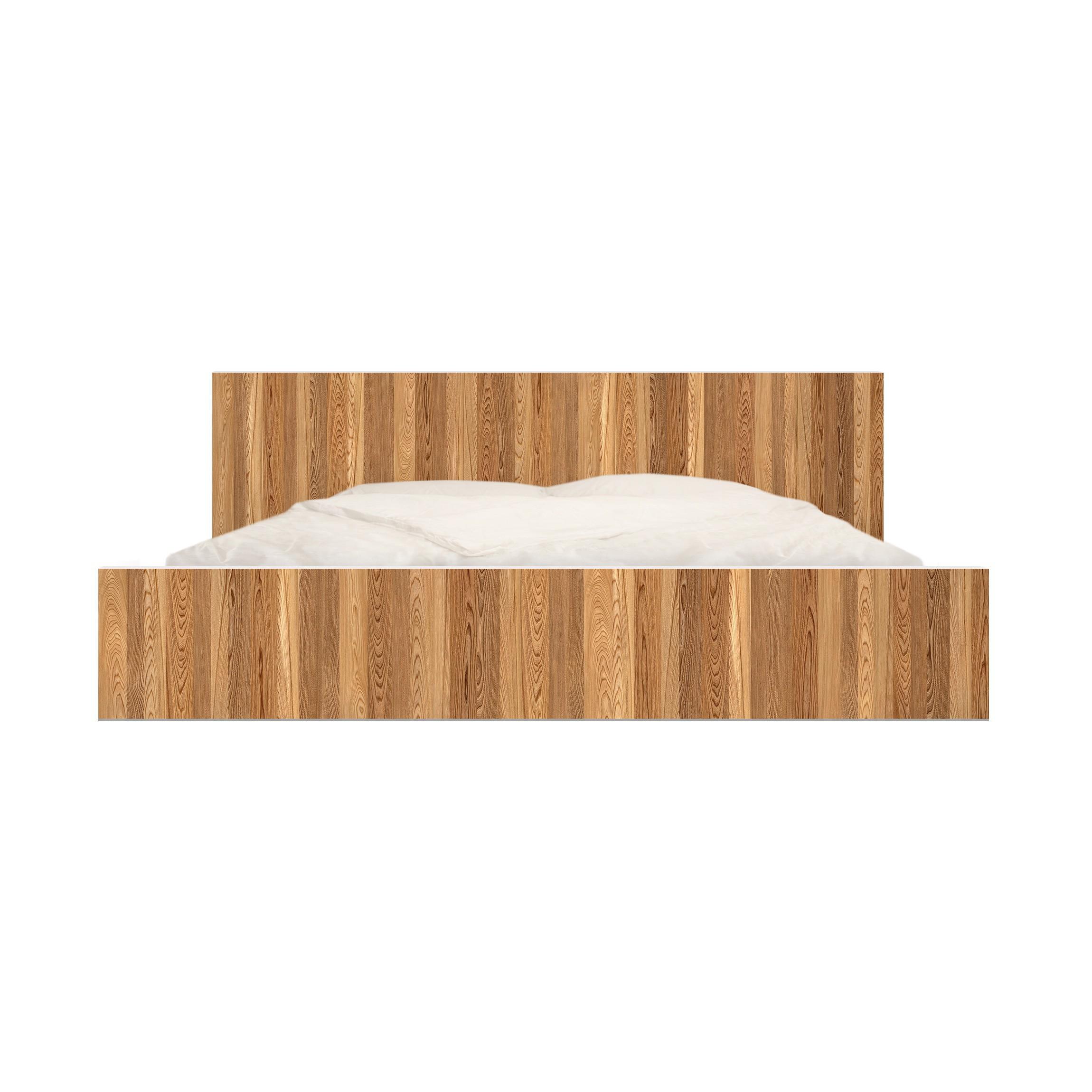 m belfolie f r ikea malm bett niedrig 160x200cm klebefolie sen. Black Bedroom Furniture Sets. Home Design Ideas