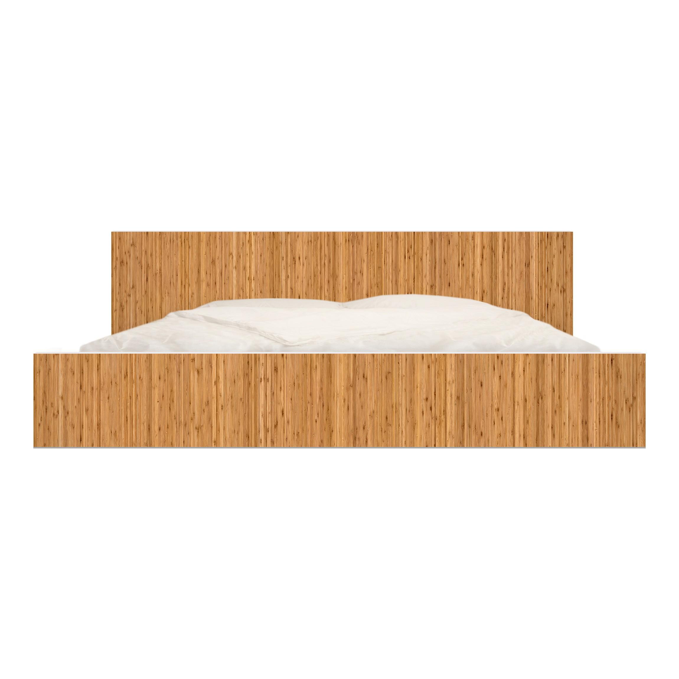 Carta adesiva per mobili ikea malm letto basso 180x200cm bamboo - Carta adesiva per mobili ikea ...