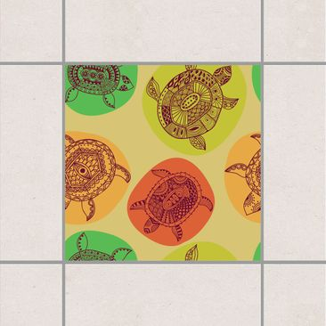 Product picture Tile Sticker - Turtles of the world's...