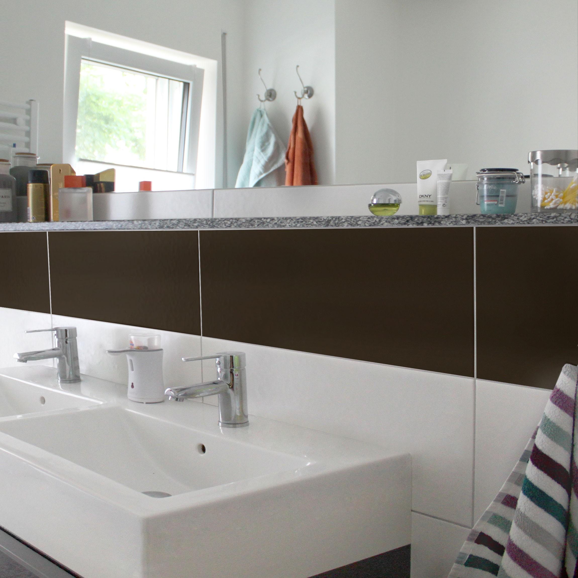 Fliesenaufkleber Bad & Küche - Braun 30x60 cm - Set