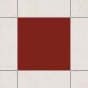 Produktfoto Fliesenaufkleber Bad & Küche - Dunkelrot 15x15 cm - Set