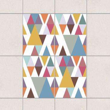 Immagine del prodotto Adesivo per piastrelle - Colorful Triangles 20cm x 15cm