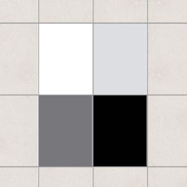Produktfoto Fliesenaufkleber - Farbset Monochrom 20x15 cm - Fliesensticker Set