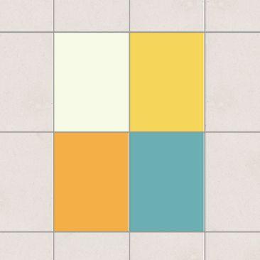 Produktfoto Fliesenaufkleber - Farbset Sommer 20x15 cm - Fliesensticker Set