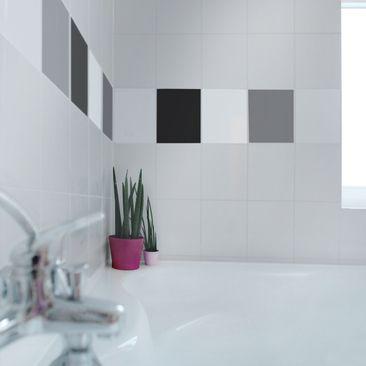 Produktfoto Fliesenaufkleber - Farbset Monochrom 25x20 cm - Fliesensticker Set