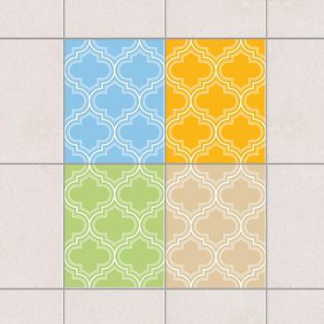 Produktfoto Fliesenaufkleber - Retro Marokko Farbset 25x20 cm - Fliesensticker Set