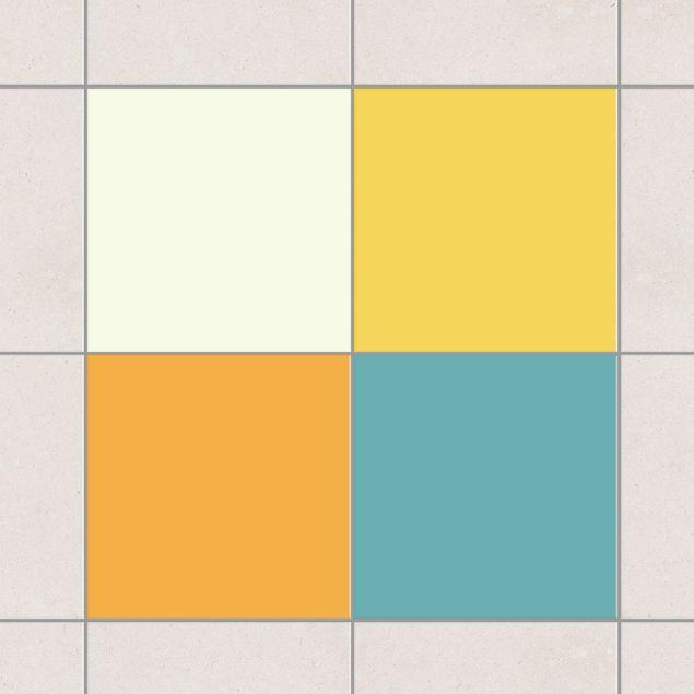 Produktfoto Fliesenaufkleber - Farbset Sommer 10x10 cm - Fliesensticker Set