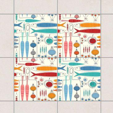 Product picture Tile Sticker - Colour Set Fisherman...