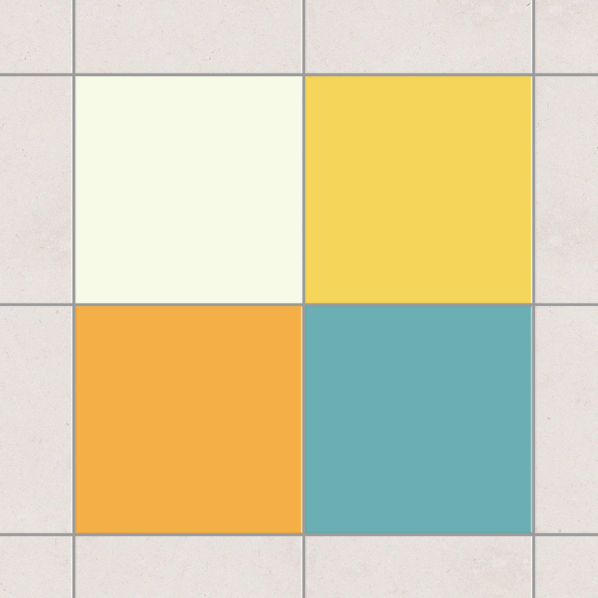 Fliesenaufkleber farbset sommer 15x15 cm for Fliesensticker 15x15