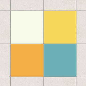 Produktfoto Fliesenaufkleber - Farbset Sommer 15x15 cm - Fliesensticker Set