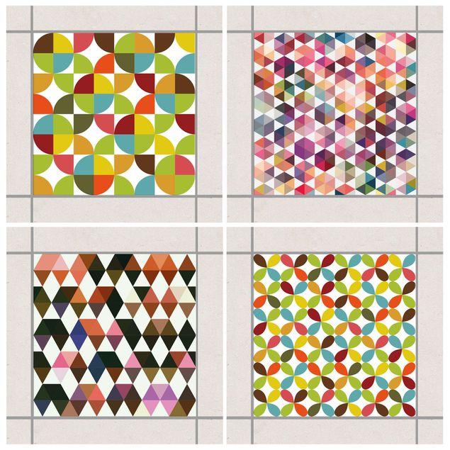 Produktfoto Fliesenaufkleber - Geometrischer Mustermix 20x20 cm - Fliesensticker Set