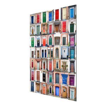 Product picture Aluminium Print - Mural 100 Doors -...