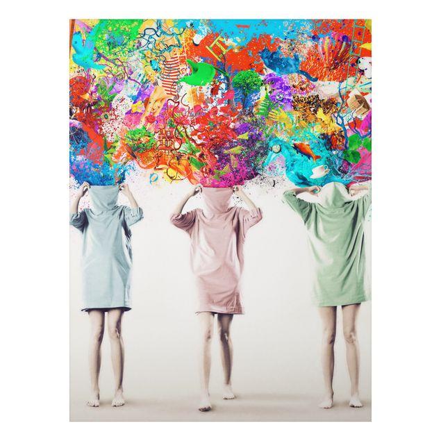 Produktfoto Aluminium Print - Wandbild Brain...