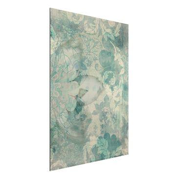 Produktfoto Aluminium Print - Wandbild Eisblumen - Hoch 4:3