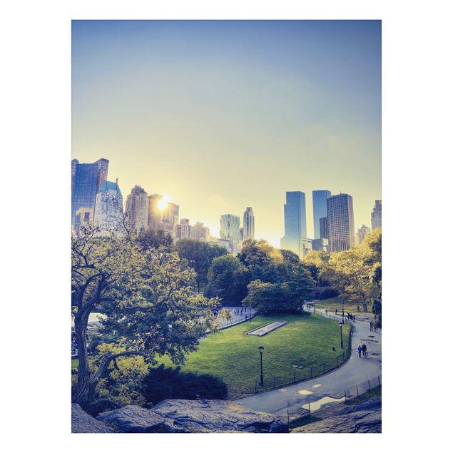 Produktfoto Aluminium Print - Wandbild Peaceful Central Park - Hoch 4:3