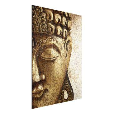 Produktfoto Aluminium Print - Wandbild Vintage Buddha - Hoch 4:3