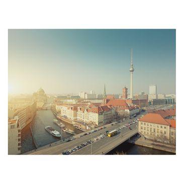 Product picture Aluminium Print - Mural Berlin morning -...