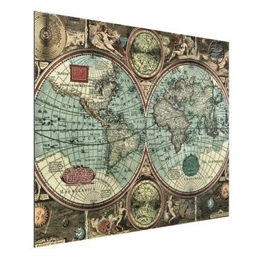 Product picture Aluminium Print - Mural The Old World -...