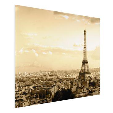 Produktfoto Aluminium Print - Wandbild I Love Paris - Quer 3:4