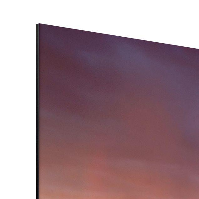 Produktfoto Aluminium Print - Wandbild Monument Valley bei Sonnenuntergang - Quer 3:4