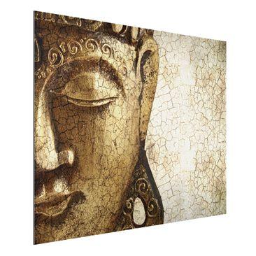 Produktfoto Aluminium Print - Wandbild Vintage Buddha - Quer 3:4