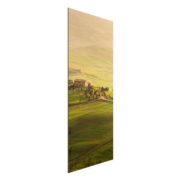 Produktfoto Aluminium Print - Wandbild Chianti Toskana - Panorama Hoch