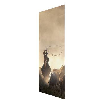 Product picture Aluminium Print - Mural Cowboys - Panel