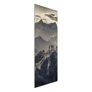 Produktfoto Aluminium Print - Wandbild Die große chinesische Mauer - Panorama Hoch