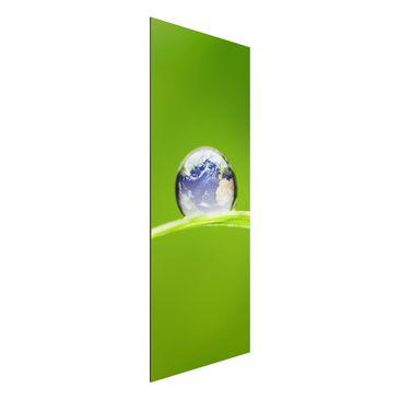 Produktfoto Aluminium Print - Wandbild Grüne Hoffnung - Panorama Hoch