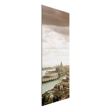 Produktfoto Aluminium Print - Wandbild Lagune von Venedig - Panorama Hoch