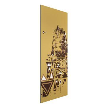 Produktfoto Aluminium Print - Wandbild No.MW17 Indianische Eule - Panorama Hoch