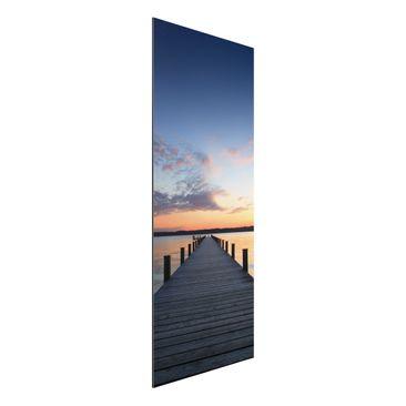 Produktfoto Aluminium Print - Wandbild Ort der Ruhe - Panorama Hoch