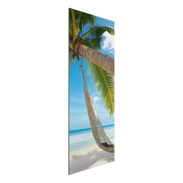 Produktfoto Aluminium Print - Wandbild Relaxing Day - Panorama Hoch