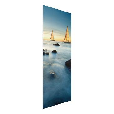 Produktfoto Aluminium Print - Wandbild Segelschiffe im Ozean - Panorama Hoch