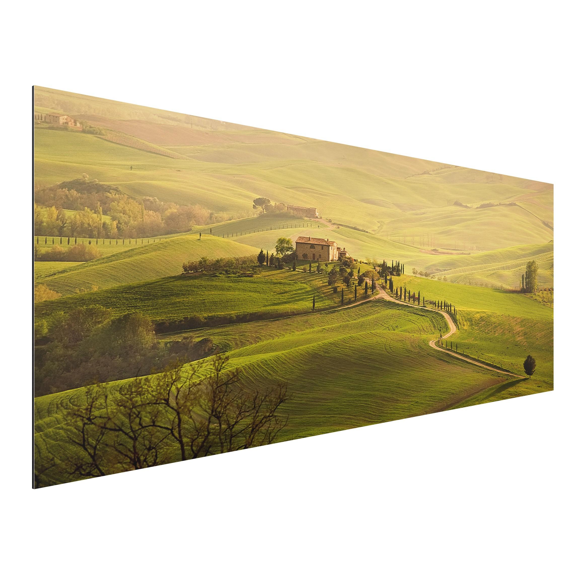 Aluminium print wandbild chianti toskana panorama quer - Mediterrane wandbilder ...