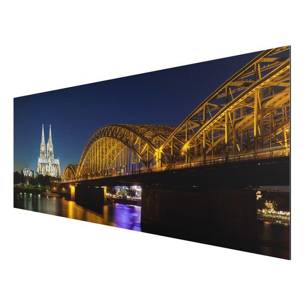 Produktfoto Aluminium Print - Wandbild Köln bei...