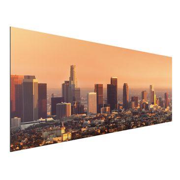 Produktfoto Aluminium Print - Wandbild Skyline of Los Angeles - Panorama Quer