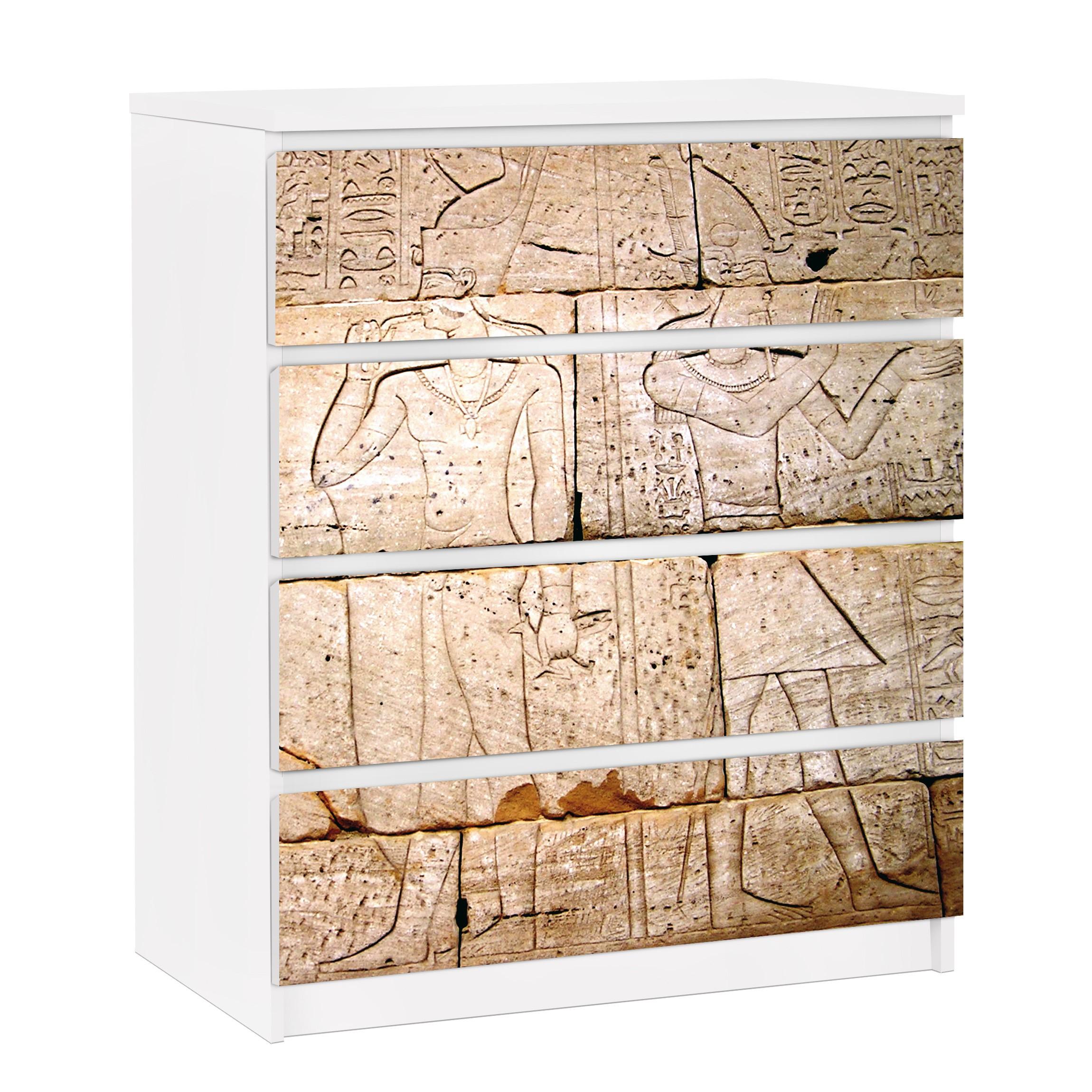 möbelfolie für ikea malm kommode - selbstklebende folie egypt relief