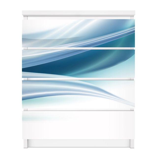 Produktfoto Möbelfolie für IKEA Malm Kommode - selbstklebende Folie Blue Dust
