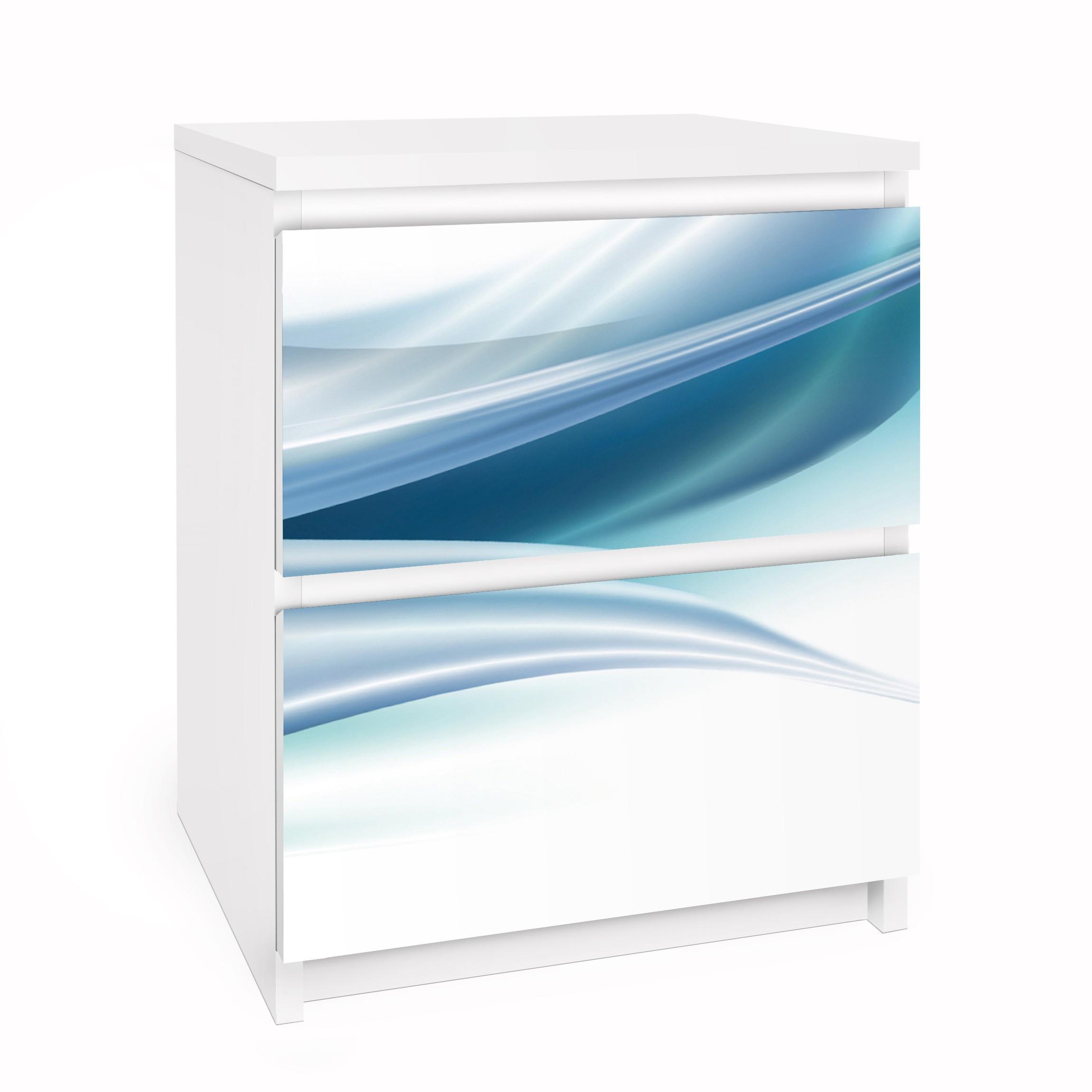 Carta adesiva per mobili ikea malm cassettiera 2xcassetti blue dust - Pellicola adesiva per mobili ikea ...