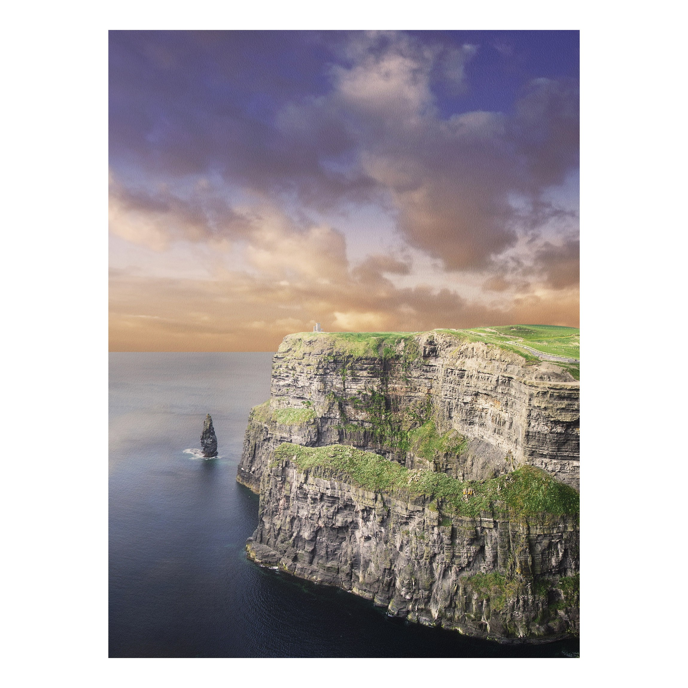 forex fine art print mural cliffs of moher high 4 3. Black Bedroom Furniture Sets. Home Design Ideas