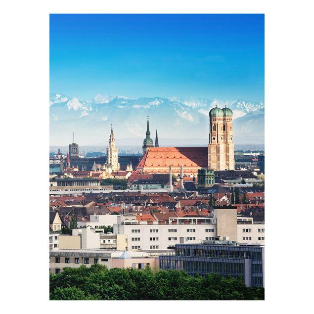 Produktfoto Forex Fine Art Print - Wandbild München - Hoch 4:3
