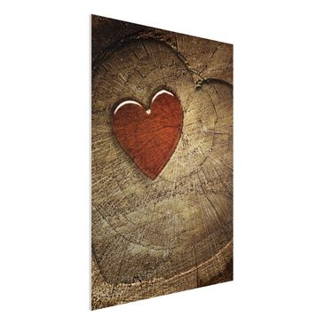 Produktfoto Forex Fine Art Print - Wandbild Natural Love - Hoch 4:3