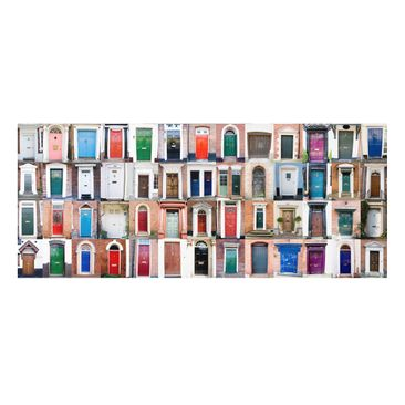 Product picture Forex Fine Art Print - Mural 100 Doors -...