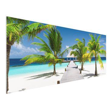 Produktfoto Forex Fine Art Print - Wandbild Catwalk to Paradise - Panorama Quer
